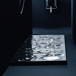 Receveur de douche noir Optical de Nic Design